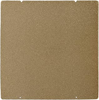 BCZAMD Prusa I3 MK3 MK52 Gold Double Sided Textured PEI Spring Steel Sheet Powder Coated PEI Build Plate for Prusa i3 MK2.5S MK3 MK3S, 253.8 x 241MM