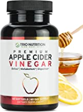 Sponsored Ad - Trio Nutrition Apple Cider Vinegar Capsules with The Mother Immune Support Booster, Maximum Strength, Raw, ...