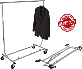 Only Hangers GR100 - Heavy Duty True Commercial Grade Rolling Rack Designed with Solid