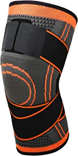 MoKo Knee Compression Sleeve, Adjustable Knee Brace Knee Pad Stabilizers with Strap Knee Support for Runining, Soccer, Bas...
