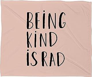 Deny Designs Allyson Johnson Fleece Blanket, Being Kind is Rad