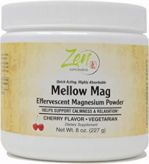 Zen Supplements - Mellow Mag-Cherry Flavor Magnesium Carbonate - Natural Aid to Support Constipation & Sleeping Difficulti...