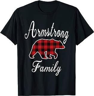 ARMSTRONG Family Bear Red Plaid Christmas Pajama Gift T-Shirt