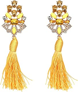 Wedding Tassel Statement Earring Multicolored Hot Fashion Drop Dangle Fringe Earrings