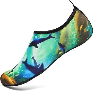 VIFUUR Water Sports Shoes Barefoot Quick-Dry Aqua Yoga Socks Slip-on for Men Women
