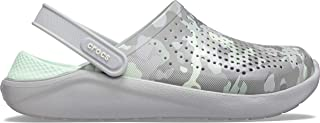 Crocs Unisex Adults LiteRide Printed Camo Clogs, Neo Mint/Light Grey