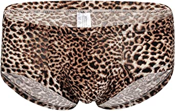 Men's Briefs Sexy Leopard Low Rise Print Underwear Man Shorts Underpants and Tank Top,MmNote