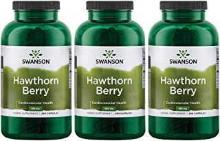 Sponsored Ad - Swanson Hawthorn Berries Supplement | Supports Blood Pressure & Heart Health 250 Capsules, 565 mg Each Hawt...