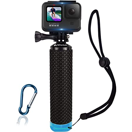 Waterproof Floating Hand Grip Compatible with GoPro Hero 9 8 7 6 5 4 3+ 2 1 Session Black Silver Camera Handler & Handle Mount Accessories Kit for Water Sport and All Action Cameras (Blue)