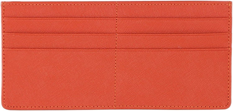 Women's Credit Card Slim Leather Wallet Zipper Pocket Purse for Clutch Bag
