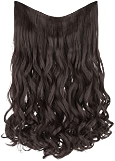 REECHO V-Shaped Hair Extensions 4 Clips in on Straight Natural Wavy Curly Hairpiece for Women