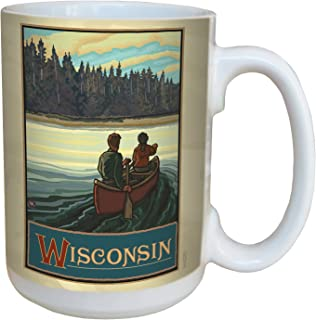 Tree-Free Greetings lm43295 Scenic Wisconsin Canoeing by Paul A. Lanquist Ceramic Mug with Full-Sized Handle, 15-Ounce, Mu...
