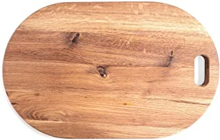 American Oak Wood Oversized Serving Board | Large Cheese Board | Charcuterie Board for Serving Cheeses, Meats, Crackers, and Wine | Unique Gifts for Wedding/Happy New Home/Thanksgiving (Oval Board)