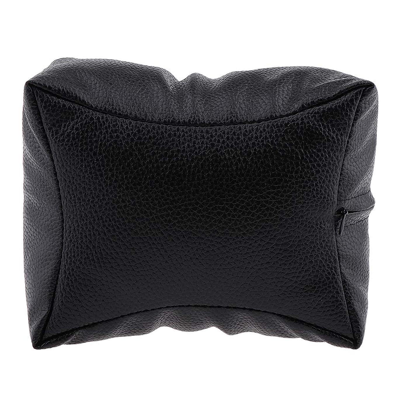 頂点噂オーバーコートDYNWAVE 手枕 ハンドピロー ハンドクッション ネイルアート 個人 家庭 ネイルサロン 4色選べ - ブラック