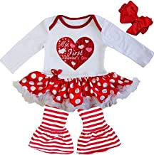 Kirei Sui Baby My First Valentine's Day Red Polka Dots Bodysuit Tutu & Pants