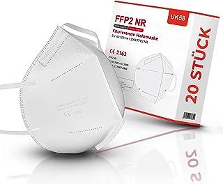 UK58 FFP2 Maske 20 Stück | 5-lagiger Mundschutz | Atemschutzmasken CE 2163 Zertifiziert | Staubschutzmasken Feinstaubmaske...