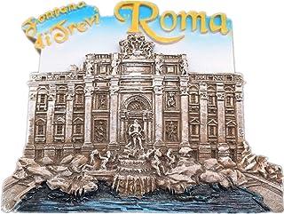 فونتانا دي تريفي، روما ايطاليا مغناطيس الثلاجة الراتنج 3d رحلة مدينة سفر تذكارية كوليكتون
