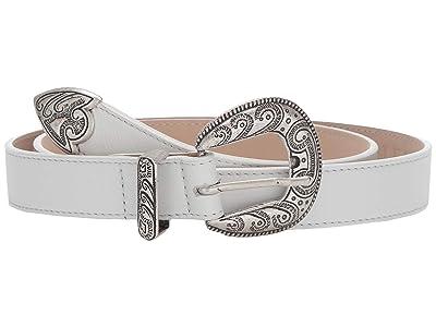 Leatherock Clara Belt (White) Women