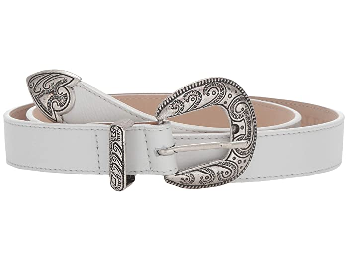 Leatherock Clara Belt (White) Women