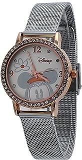 Disney Women's MN2062 Mickey Mouse Silver-Tone Mesh Strap Watch