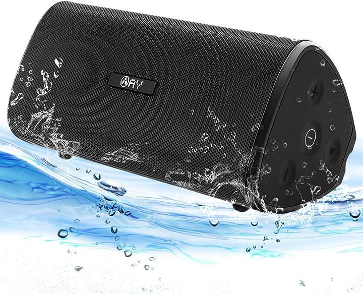 Altoparlante bluetooth 5.0 portatile audio stereo 360 bass con tws, impermeabile ipx7 ay casse bluetooth 30w AY-SPKF4