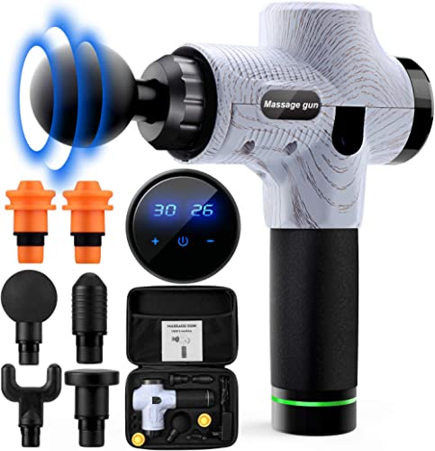 Massage Gun,Handheld Electric Body Massager,Deep Tissue Percussion Massager,30 Speed Muscle Recovery Professional