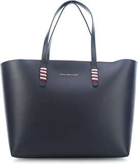 3b561808d1e Tommy Hilfiger Tote Bag for Women, Leather - Navy (AW0AW05531-413)