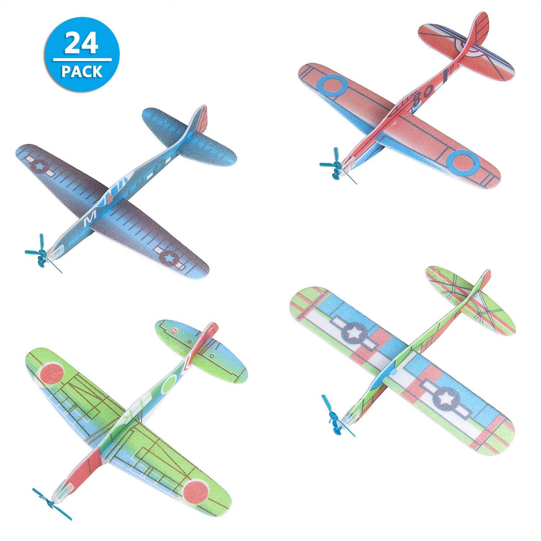 Comius Set de 24 Aviones planeadores de Papel, Niños Aeroplanos voladores Detalles de Fiesta, Rellenos de Bolsas de Fiesta, premios de Clase, Regalos, etc.: Amazon.es: Juguetes y juegos