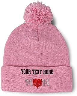Custom Text Embroidered Peace Love Swim Unisex Adult Acrylic Beanie Skully Hat