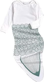 Newborn Cotton Gowns Baby Sleep Bag Pajamas Long Sleeves Mermaid Tail Baby Wearable Blanket Infant Sleepers Sleepwear