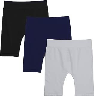 KIDPIK Girls Bike Shorts - Seamless Cotton Spandex Athletic Shorts