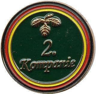 Schützenfest 2.Kompanie mit Eichenlaub Metall Button Pin Pins Anstecker 0371