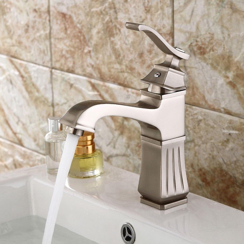 Bathroom Sink Taps Modern Creative Basin Faucet Brass Blender Brushed Mixing Faucet Bathroom Single Handle Faucet