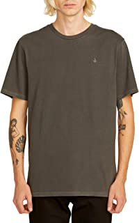 Men's Solid Stone Embroidered Short Sleeve Tee