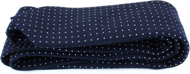 2 1//2 Width Mens Cotton Skinny Necktie Tie Dark Color White Polka Dot Pattern