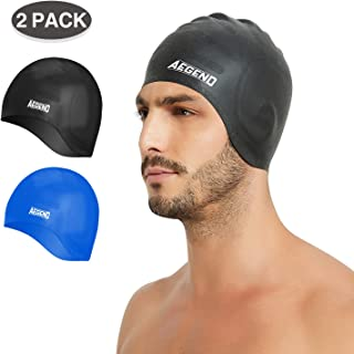 aegend 2 Pack Swim Cap Cover Ears, Fit for Men Women Adult Youth, 6 Colors