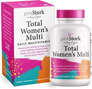 Pink Stork Total Women's Multivitamin: Multivitamin for Women with Folate, Zinc, Vitamin A, Vitamin C, Vitamin D, Vitamin ...