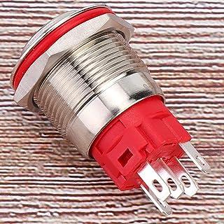 Roestvrij staal 19mm Zelfsluitende Schakelaar DC9 ~ 30V voor Outdoor Apparatuur met Licht Geel (Ring macht lamp hoge hoofd...