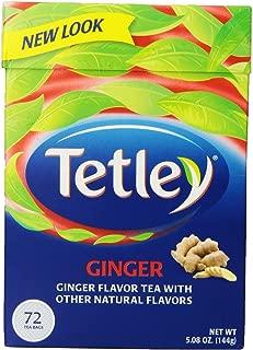 TETLEY TEA GNGR, 72 BG