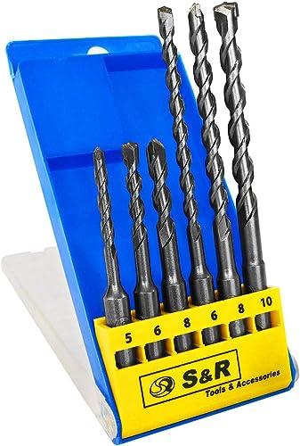Ladrillo 2 brocas SDS Plus TCT de 20 mm x 160 mm mamposter/ía y hormig/ón