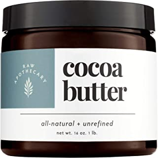 Raw Apothecary All-Natural Cocoa Butter (16 ounces)