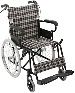 楽々健 折り畳み式車椅子 自走式 軽量 (チェック)