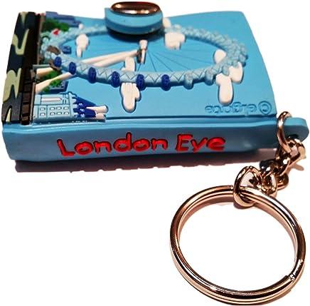 London Eye Iconic Landmark Mini Keychain Notebook With Snap Keyring / Key Ring / Key Chain / Keychain / Souvenir Quality Attraction Real Skyline Thames Riverside London Icon