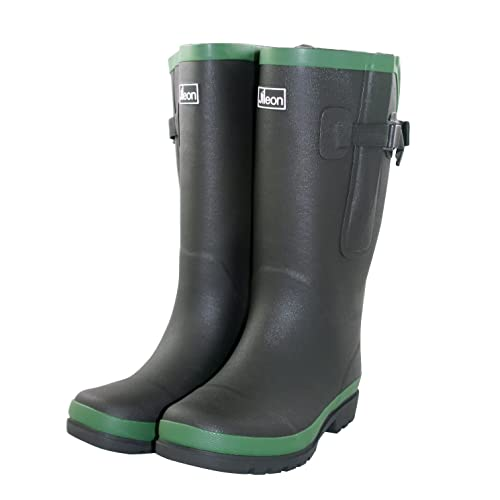 cd3a79c8115e Jileon Extra Wide Calf Rubber Rain Boots with Rear Expansion - Wide in Calf