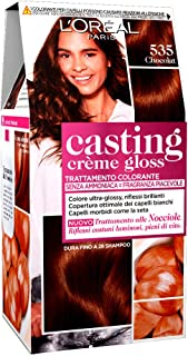 L'Oréal Paris Casting Creme Gloss, tratamiento colorante para el cabello, sin amoniaco para una fragancia agradable. Chocolat 535