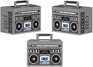 Beistle 54126 3-Pack Boom Box Favor Boxes, 4-Inch by 5-3/4-Inch