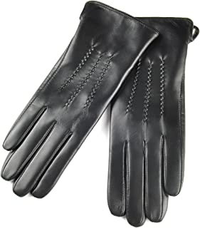 SIEFERSN Classic Style Women's Lambskin Gloves Whole Hands Touchscreen Winter Warm Leather Gloves 1154125019