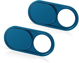 CloudValley Camera Cover Slide Ultra-Thin, Blue Webcam Cover for MacBook air, Laptop, iMac, Desktop, PC, MacBook Pro, iPad, iPhone 8/7/6, Privacy Web Camera Protection [2 Packs]