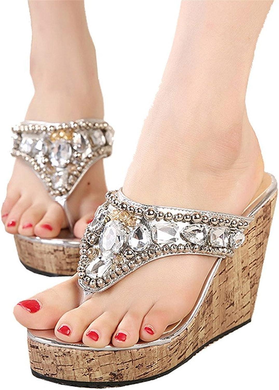 Also Easy Stylish Women's Diamante Weave Flip Flop Summer Sandals Style