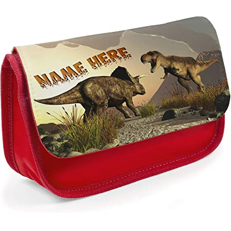T REX Pencil Case Dinosaur School Childrens Personalised Stationary Bag KSP229